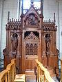 Godewaersvelde (Nord, Fr) église, confessional (01).jpg