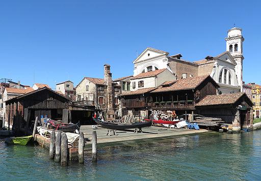 Gondola boatyard San Trovaso Venice 1