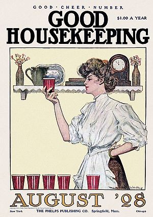 Good Housekeeping - Cover from August 1908 made by John Cecil Clay.