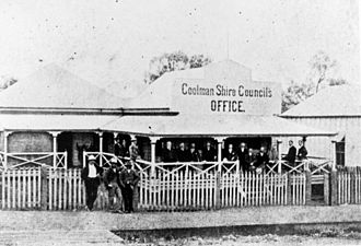 Shire of Boonah - Goolman Shire Council's Office and Shire Clerk's residence, 1903