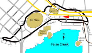 1997 Molson Indy Vancouver - Image: Grand Prix of Vancouver old layout