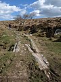 Granite tramway near Holwell Tor - geograph.org.uk - 1233106.jpg