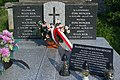 Grave of Kazimierz Poschinger with national colors decorated (2020)a.jpg