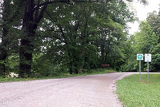 Arkansas Scenic Byways - Image: Great River Road in Mississippi River State Park 001