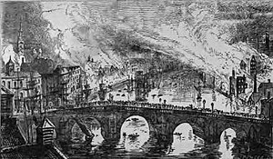Great fire of Newcastle and Gateshead - Image: Great fire of Newcastle 1854
