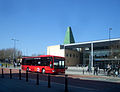 Green Tower, Red Bus - geograph.org.uk - 2059521.jpg
