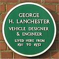 Green plaque George H Lanchester.jpg