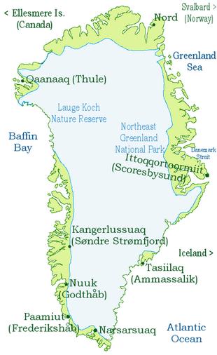 kart grønland Grønlands historie – Wikipedia kart grønland