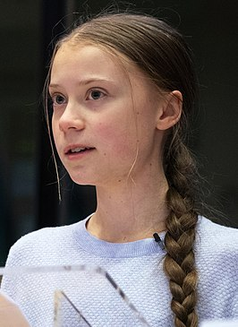Thunberg in januari 2020 tijdens het World Economic Forum in Davos