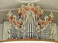 Griesbach bei Mähring St Martin Orgelgehäuse Weiß.JPG
