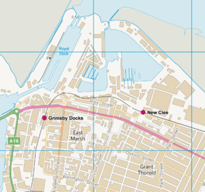 Grimsby Docks railway station - Location map of Grimsby Docks railway station