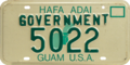 Guam license plate 1986 government.png