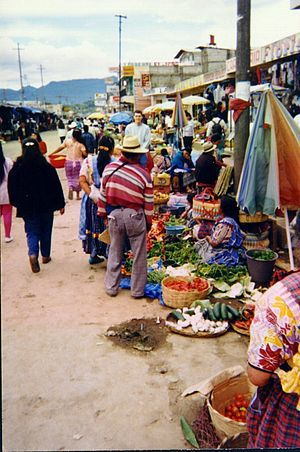 Typical market in Guatemala