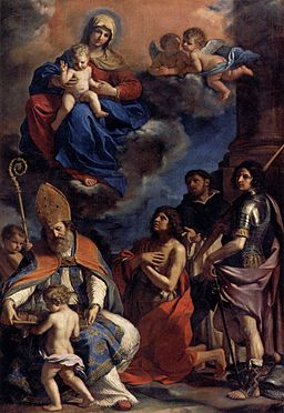 Guercino - Virgin and Child with Four Saints - WGA10952