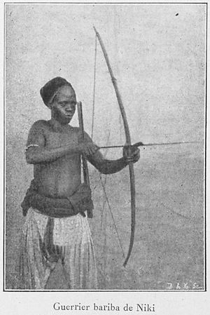 Bariba people - Bariba warrior from the state of Nikki, 1900.