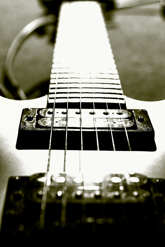 English: Pickup of electric guitar