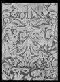 Hästtäcke ur en serie av sex (6042-6047) tillhörande drottning Kristinas kröningskaross med trofémotiv - Livrustkammaren - 44798.tif