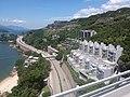 HK CityBus 960 view 汀九橋 Ting Kau Bridge 斜拉橋 Cable-stayed Tuen Mun District Tsing Long Highway August 2018 IX1 藍巴勒海峽 Rambler Channel 星悅海灣 Grand Rivera 09.jpg
