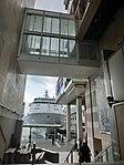 HK TST Star House footbridge view Ocean Terminal pier parking MV Silver Whisper luxury cruise ship Feb-2013.JPG
