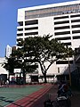 HK YMT 油麻地 Shanghai Street Market Street Playground 上海街遊樂場 view Yaumatei Carpark Building Jan-2014 Ip4 001.JPG