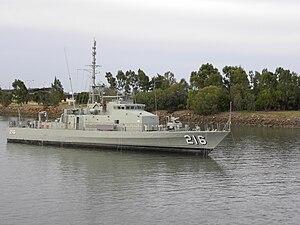 Fremantle-class patrol boat - Gladstone in 2010, awaiting preservation in her namesake city