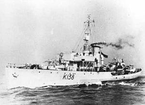 HMCS Barrie - Image: HMCS Barrie at sea