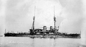 HMS Agamemnon (1906) - Image: HMS Agamemnon LOC ggbain 18554