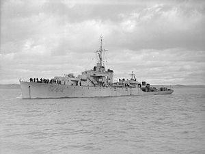 HMS Annan (K404) - Image: HMS Annan (K404) IWM FL 624