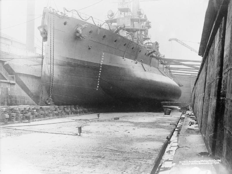 HMS Glatton in drydock IWM SP 2083