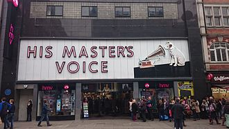 HMV - HMV reopened its original store in Oxford Street in October 2013. This store was closed on 5 February 2019 following the purchase of HMV by Sunrise Records.