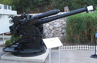 Deck gun - British Mk XXII 4-inch deck gun from S-class submarine