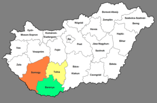 Southern Transdanubia Region in Hungary