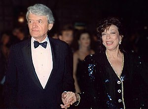 Dixie Carter - Hal Holbrook and Dixie Carter at the 41st Emmy Awards, 1990