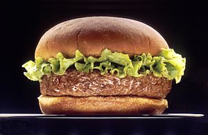 Hamburger - Image: Hamburger (black bg)