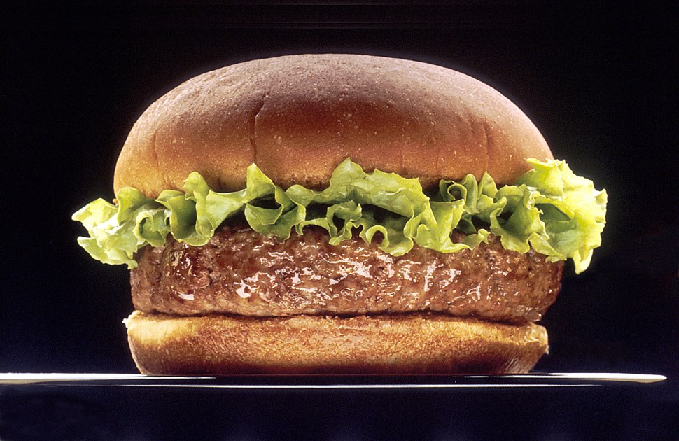 Hamburger (black bg)