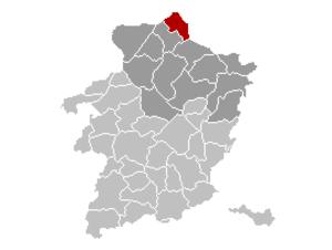 Hamont-Achel - Image: Hamont Achel Limburg Belgium Map