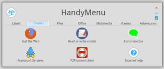 HandyLinux - Image: Handymenu 4 internet en