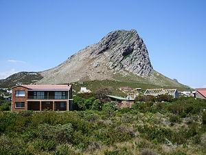 Rooi-Els, Western Cape - Klein-Hangklip on the eastern edge of False Bay as seen from Rooi-Els