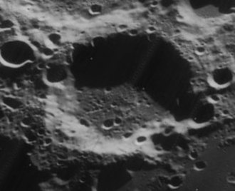 Hanno (crater) - Oblique view also from Lunar Orbiter 4