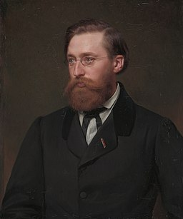 Hans Gude, by Julius Amatus Roeting