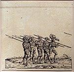Hans burgkmair il vecchio, spadaccini con alabarde, dalla serie della processione trionfale di massimiliano I, 1526 (ristampa del 1796) .jpg