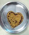 Heart shaped Makke-Di-Roti.jpg