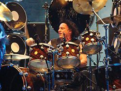Vinny Appice egy Heaven and Hell koncerten.