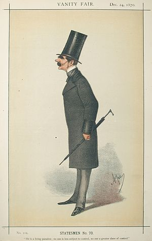 Henry Knight Storks - Caricature by Ape published in Vanity Fair in 1870