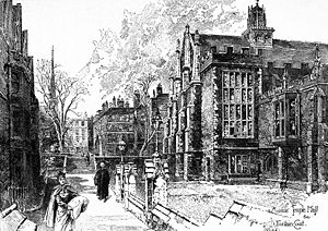 Herbert Railton - Middle Temple Hall and Fountain Court, London (1895)