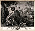 Hercules and Achelous. Engraving by J.B. Patas after A. Bore Wellcome V0035867.jpg