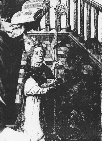 Hermann IV of Hesse - Hermann pictured on a panel by the Master of the Life of the Virgin.