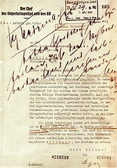 Accompanying letter from Reinhard Heydrich to Undersecretary Martin Luther (February 26, 1942) on the transmission of the minutes of the Wannsee Conference