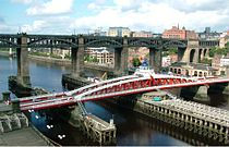 High Level Bridge and Swing Bridge - Newcastle Upon Tyne - England - 14082004.jpg