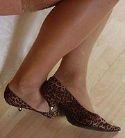 696ca8a18f06 Chaussures à petit talon en métal.
